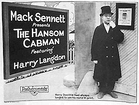 "Harry Langdon as the title character of ""The Hansom Cabman""."